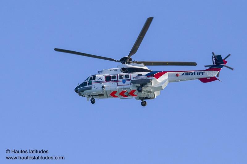 Evacuation médicale par hélicoptère au Spitzberg